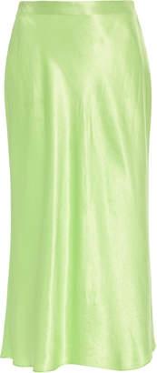 Vince Slip Satin Midi Skirt Size: XXS