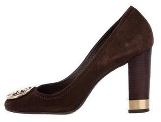Tory Burch Suede Round-Toe Pumps