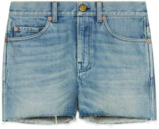 Gucci Denim shorts with patches