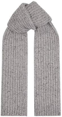 Johnstons of Elgin Cashmere Ribbed Knit Scarf