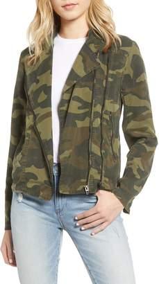 Blank NYC Blanknyc Camo Print Moto Jacket