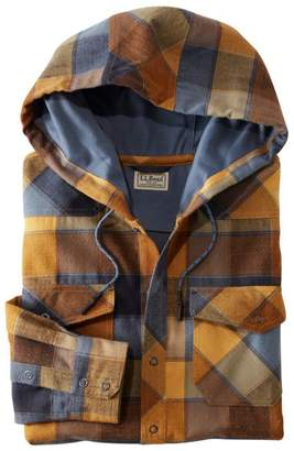 L.L. Bean L.L.Bean Men's Overland Performance Flannel Shirt, Hooded