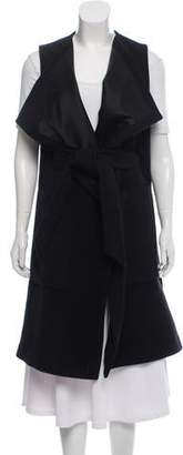 Thomas Wylde Virgin Wool Cashmere-Blend Longline Vest