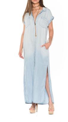 Bella Denim Maxi Dress $80 thestylecure.com