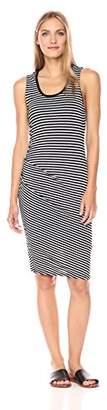 Michael Stars Women's Jackie Stripe Sleeveless Dress with Side Shirring