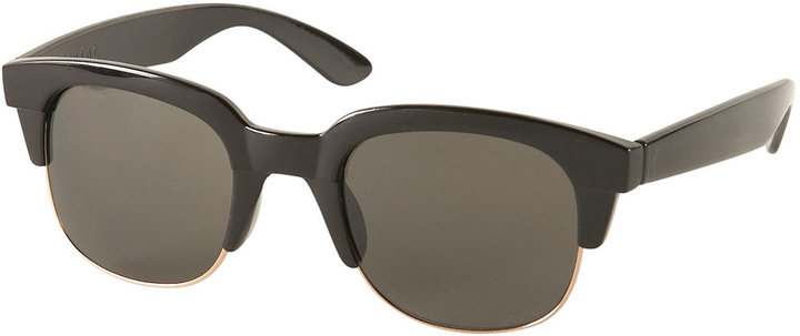 Topshop Clear Large Flat Top Sunglasses By Squint
