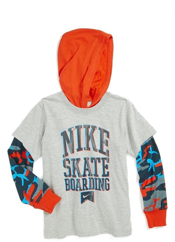Nike Hooded T-Shirt (Little Boys)
