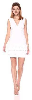 Nicole Miller Women's Stretchy Tech Ruffle Dress