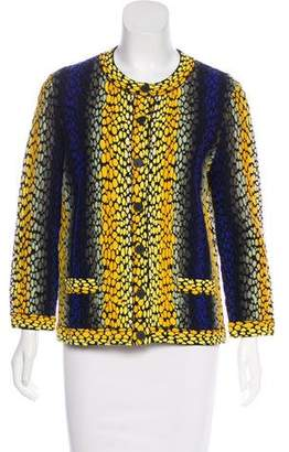 Fendi Intarsia Knit Cardigan w/ Tags