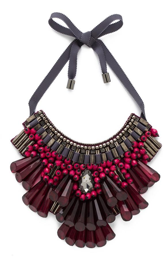 Matthew Williamson Opulent Necklace in Plum
