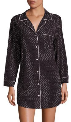 Eberjey Dominique Sleep Chic Sleepshirt $99 thestylecure.com
