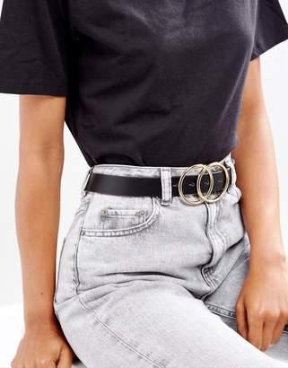 Asos DESIGN vegan double circle waist and hip belt