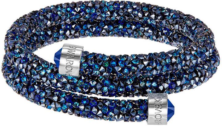 Crystaldust Bangle Double, Blue