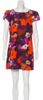 Milly Floral Print Mini Dress