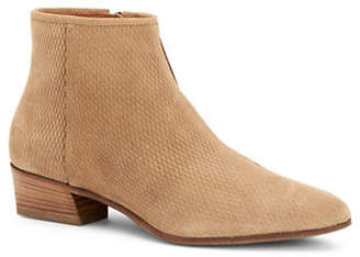 Aquatalia Fire Perforated Suede Booties