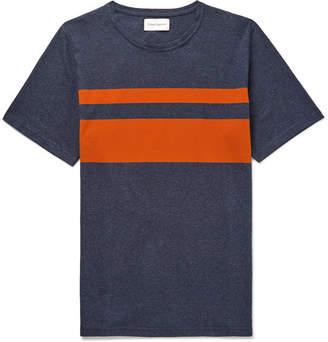 Oliver Spencer Conduit Striped Mélange Cotton-Jersey T-Shirt