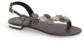Menbur 'Gunmiel' Crystal Embellished Flat Sandal (Women) $134.95 thestylecure.com