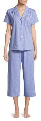 Karen Neuburger Plus Polka Dot Print Pajamas
