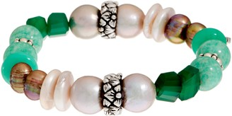 Stephen Dweck Sterling Silver Multi-Gemstone Stretch Bracelet