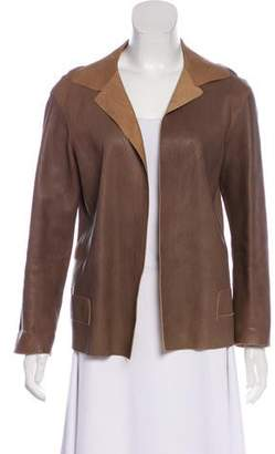 Marni Open Front Leather Jacket