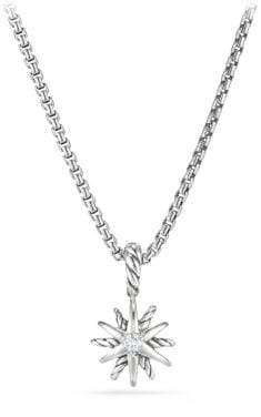 David Yurman Starburst Kids Necklace With Diamonds, 8Mm