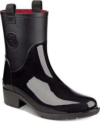 Tommy Hilfiger Khristie Rain Boots $69 thestylecure.com
