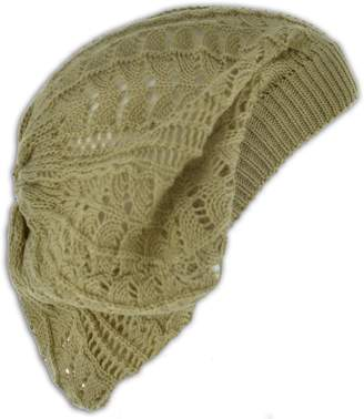8fe674e996708c Jh Sports Womens Fashion Crochet Beanie Hat Knit Beret Skull Cap Tam