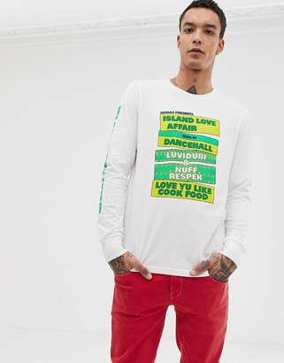 adidas Skateboarding Skateboarding Long Sleeve T-Shirt With Sleeve Print In White CF5813