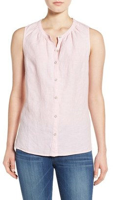 Women's Tommy Bahama 'Sunset Chambray' Sleeveless Shirt $88 thestylecure.com