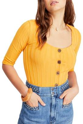Free People Central Park Ribbed Top