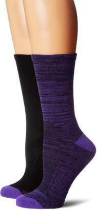 Hush Puppies Women's Ladies Acrylic Light Hiking Fashion Sock 2-Pack