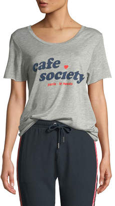 Zoe Karssen Cafe Society Graphic Crewneck Tee