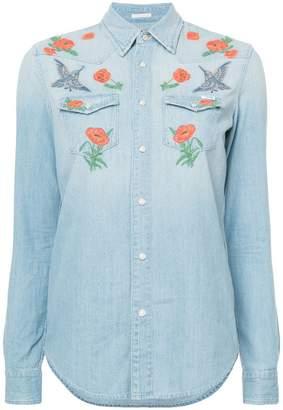 Mother embroidered denim shirt