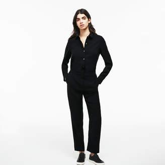 Lacoste Women's Crepe Buttoned Jumpsuit