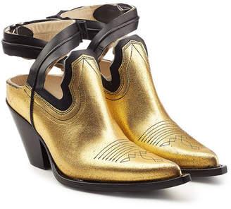 Maison Margiela Show Ankle Metallic Leather Shoe Boots