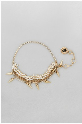 French Connection Star & Chain Seed Bracelet