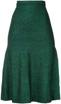 Ginger & Smart Allude Metallic Knit Skirt