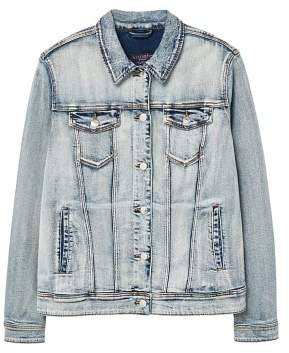 Violeta BY MANGO Bleached denim jacket