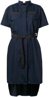 Sacai short-sleeve belted dress
