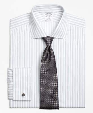 Brooks Brothers Regent Fitted Dress Shirt, Non-Iron French Cuff Sidewheeler Stripe
