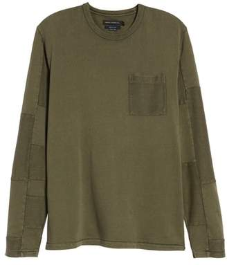 French Connection Patchwork Long Sleeve T-Shirt
