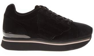 Emporio Armani Black Synthetic Thick Sneakers