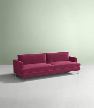 Anthropologie Bowen Sofa, Lucite Leg