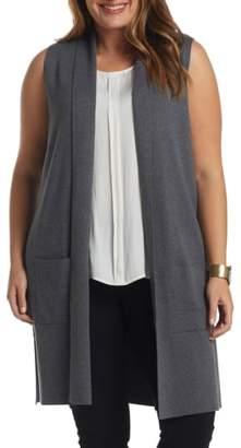 Tart Melva Cotton & Cashmere Open Front Sweater Vest