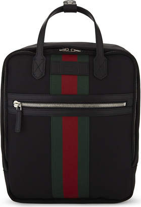 Gucci Web stripe techno canvas backpack