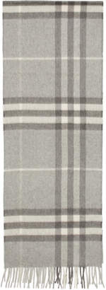 Burberry Grey Cashmere Giant Icon Scarf
