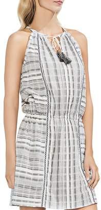 Vince Camuto Jacquard Plaid Tassel Dress