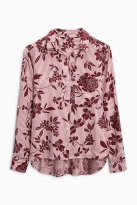 Next Womens Monochrome Stripe Shirt