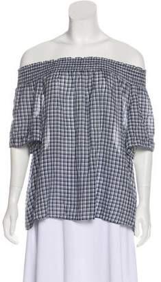Denim & Supply Ralph Lauren Off-The-Shoulder Plaid Top w/ Tags
