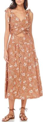 Anama Floral Cut-Out Dress